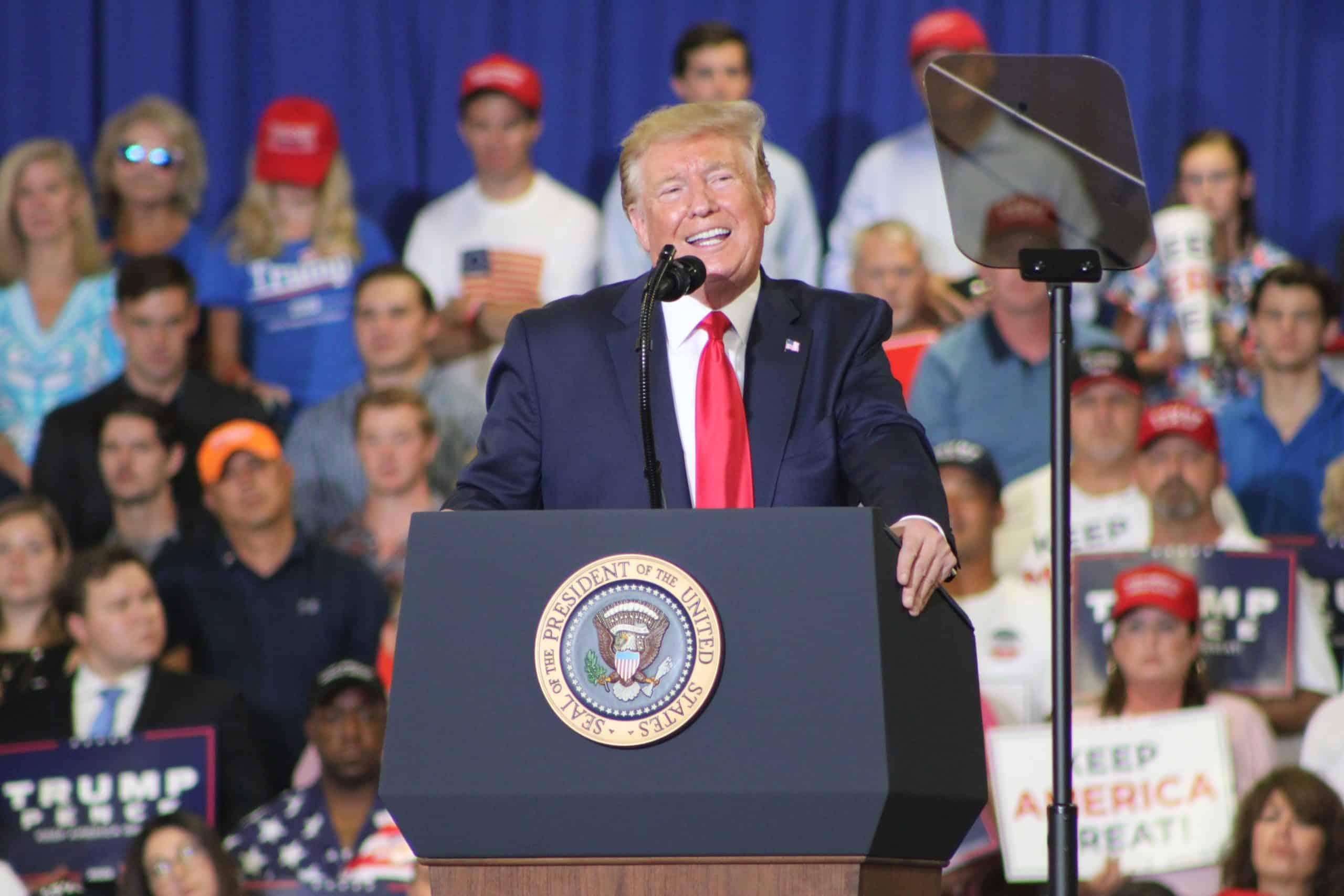 President Donald Trump in Fayetteville