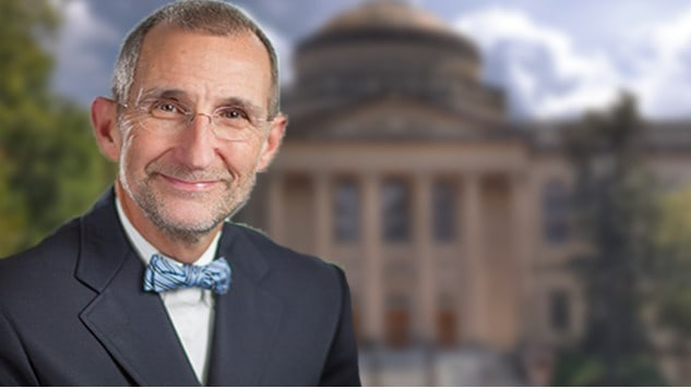Edited Photo of Bill Roper in front of UNC-CH Campus