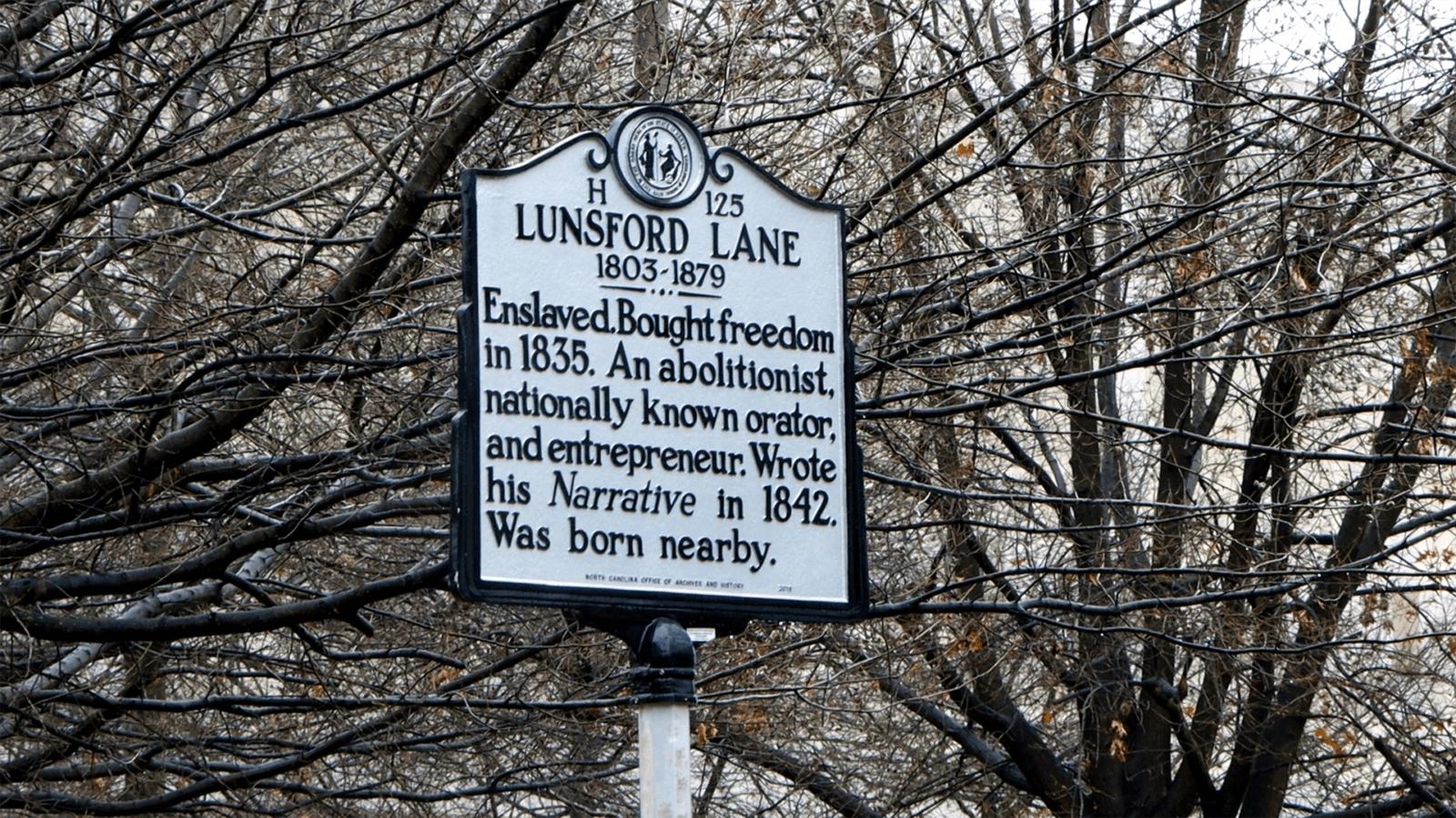 Lunsford Lane Marker